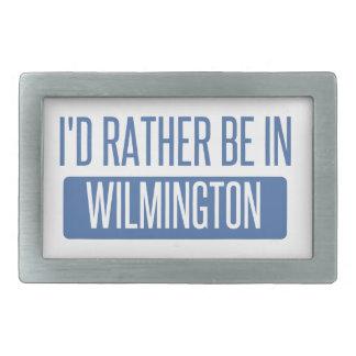 I'd rather be in Wilmington NC Rectangular Belt Buckles