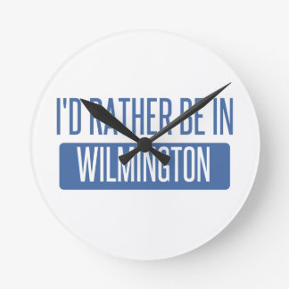I'd rather be in Wilmington NC Round Clock