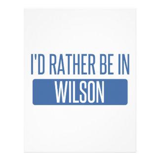 I'd rather be in Wilson Letterhead