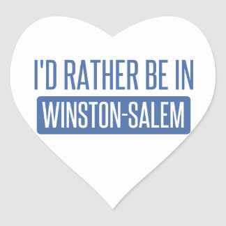 I'd rather be in Winston-Salem Heart Sticker