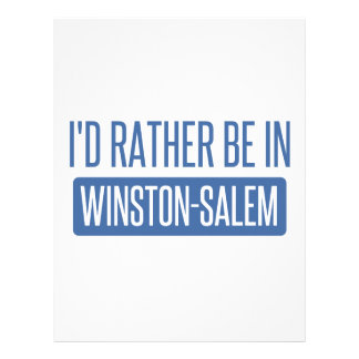 I'd rather be in Winston-Salem Letterhead