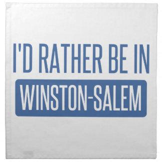 I'd rather be in Winston-Salem Napkin