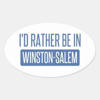 I'd rather be in Winston-Salem Oval Sticker