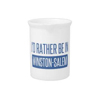 I'd rather be in Winston-Salem Pitcher