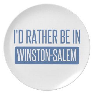 I'd rather be in Winston-Salem Plate