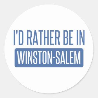 I'd rather be in Winston-Salem Round Sticker
