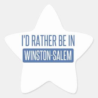 I'd rather be in Winston-Salem Star Sticker