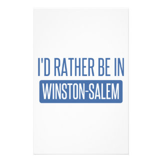 I'd rather be in Winston-Salem Stationery Design