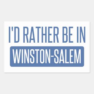 I'd rather be in Winston-Salem Sticker