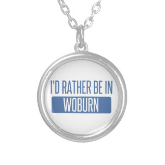 I'd rather be in Woburn Silver Plated Necklace
