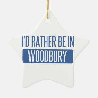I'd rather be in Woodbury Ceramic Star Ornament