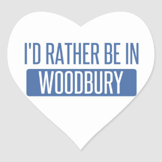 I'd rather be in Woodbury Heart Sticker