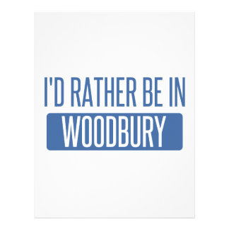 I'd rather be in Woodbury Letterhead Template