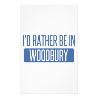 I'd rather be in Woodbury Personalized Stationery