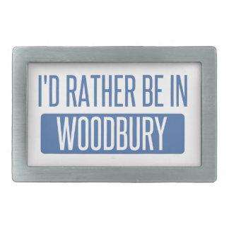 I'd rather be in Woodbury Rectangular Belt Buckle