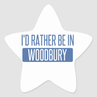I'd rather be in Woodbury Star Sticker