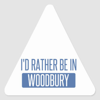 I'd rather be in Woodbury Triangle Sticker