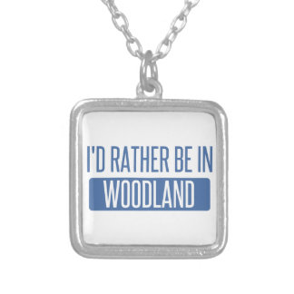 I'd rather be in Woodland Silver Plated Necklace
