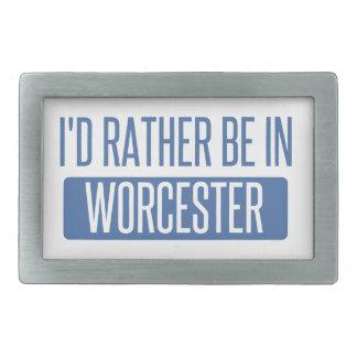 I'd rather be in Worcester Rectangular Belt Buckles