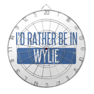 I'd rather be in Wylie Dart Board