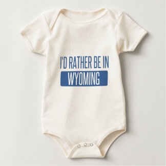 I'd rather be in Wyoming Baby Bodysuit