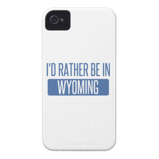 I'd rather be in Wyoming iPhone 4 Case