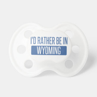 I'd rather be in Wyoming Pacifier