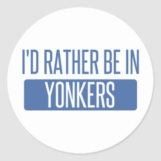 I'd rather be in Yonkers Classic Round Sticker
