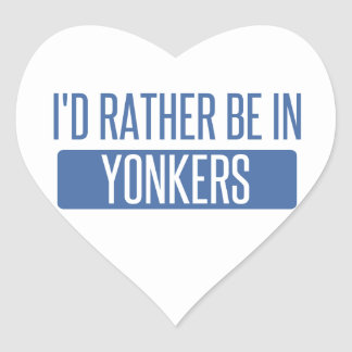 I'd rather be in Yonkers Heart Sticker