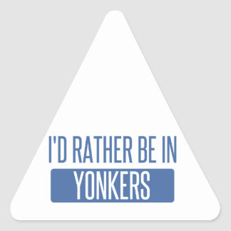 I'd rather be in Yonkers Triangle Sticker