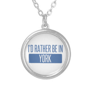 I'd rather be in York Silver Plated Necklace