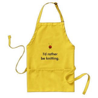 I'd Rather Be Knitting ... Standard Apron
