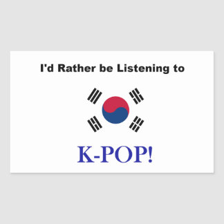 I'd Rather be Listening to KPOP! Sticker