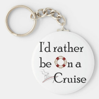 I'd Rather Be On A Cruise Keychain