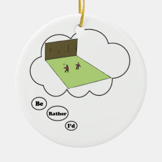 I'd rather be playing Handball Ceramic Ornament