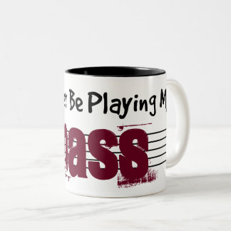 I'd Rather Be Playing My Bass Two-Tone Coffee Mug