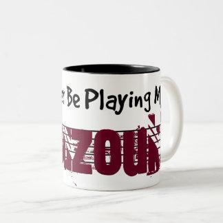 I'd Rather Be Playing My Bouzouki Two-Tone Coffee Mug