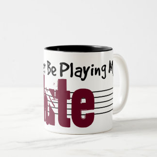 I'd Rather Be Playing My Lute Two-Tone Coffee Mug