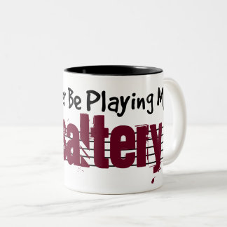 I'd Rather Be Playing My Psaltery Two-Tone Coffee Mug
