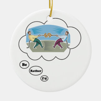I'd rather be playing Tug of War 3 Ceramic Ornament