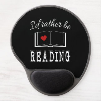 I'd rather be reading gel mouse pad