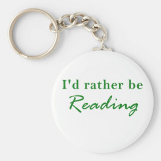 Id Rather be Reading Keychain