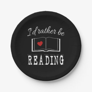 I'd rather be reading paper plate