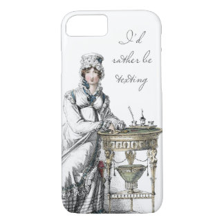 I'd Rather be Regency Fashion Plate iPhone 7 Case