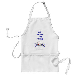 I'd rather be riding Dad motorbike for father Standard Apron