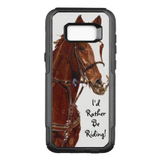 I'd Rather Be Riding! Horse OtterBox Commuter Samsung Galaxy S8+ Case