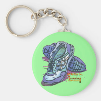 I'd Rather Be Running _ Sneakers Basic Round Button Keychain