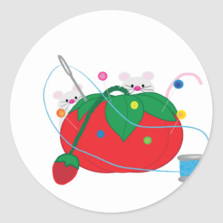 I'd rather be sewing! round sticker