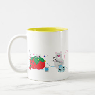 I'd rather be sewing! Two-Tone coffee mug