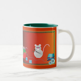 I'd rather be sewing Two-Tone coffee mug